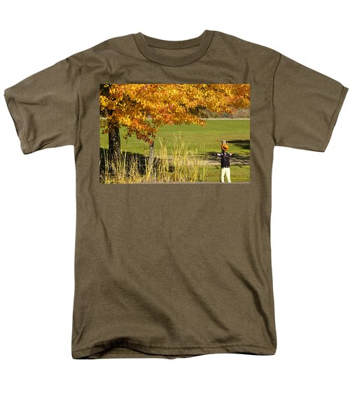 Men's T-Shirt  (Regular Fit) featuring the photograph Autumn At The Schoolground by Mick Anderson