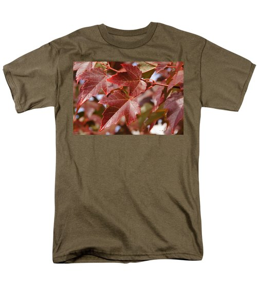 Men's T-Shirt  (Regular Fit) featuring the photograph Autumn In My Back Yard by Mick Anderson