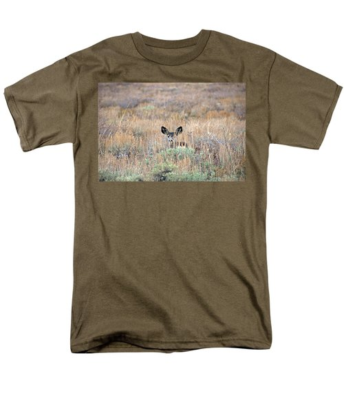 Men's T-Shirt  (Regular Fit) featuring the photograph Babe In Hiding by Lynn Bauer