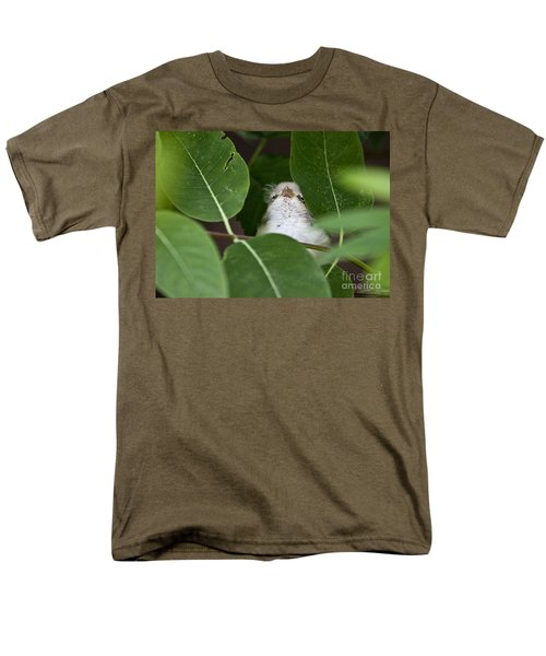 Men's T-Shirt  (Regular Fit) featuring the photograph Baby Bird Peeping In The Bushes by Jeannette Hunt