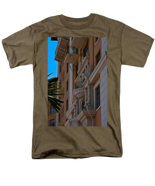 Men's T-Shirt  (Regular Fit) featuring the photograph Balcony At The Biltmore Hotel by Ed Gleichman