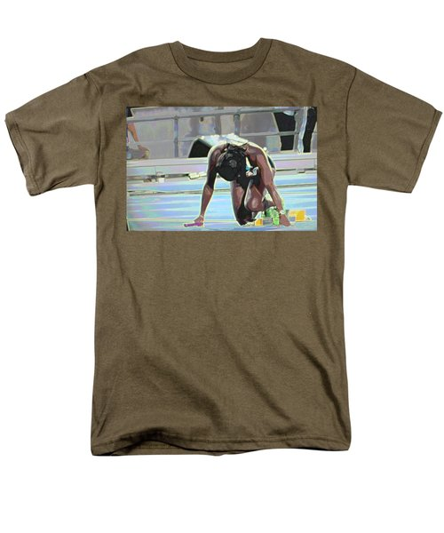 Men's T-Shirt  (Regular Fit) featuring the mixed media Baton by Terence Morrissey