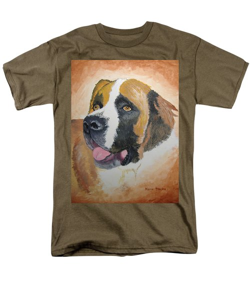 Men's T-Shirt  (Regular Fit) featuring the painting Baxter by Norm Starks