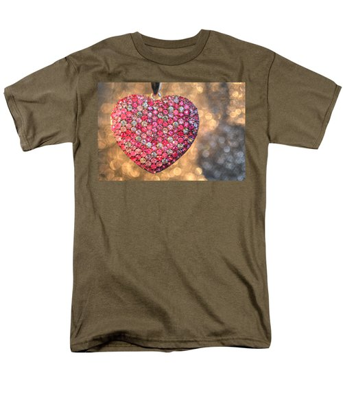 Bedazzle My Heart Men's T-Shirt  (Regular Fit) by Shelley Neff
