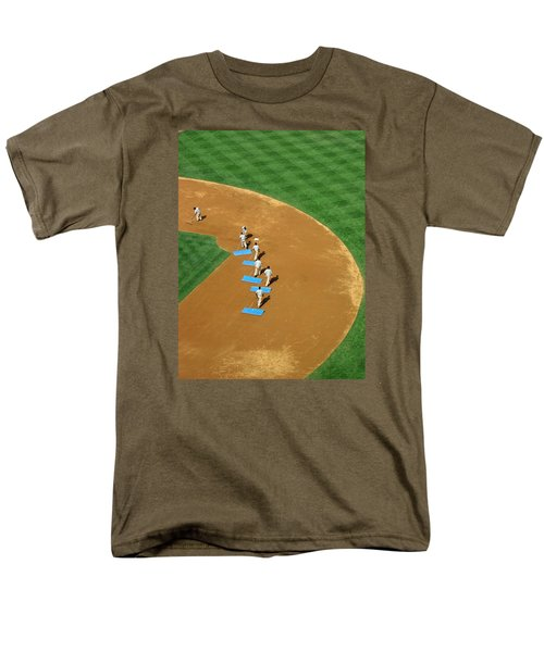Men's T-Shirt  (Regular Fit) featuring the photograph Between Innings by Mike Martin