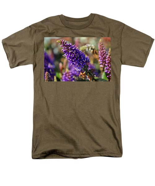 Men's T-Shirt  (Regular Fit) featuring the photograph Blue Brush Bloom by Tikvah's Hope