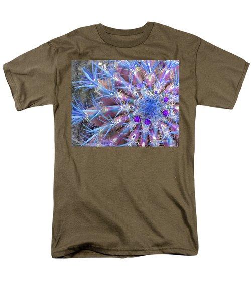 Blue Cactus Men's T-Shirt  (Regular Fit) by Rebecca Margraf