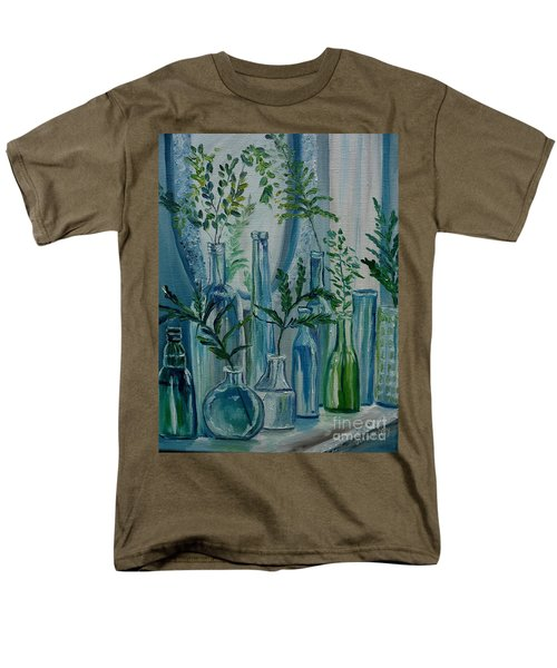 Men's T-Shirt  (Regular Fit) featuring the painting Bottle Brigade by Julie Brugh Riffey