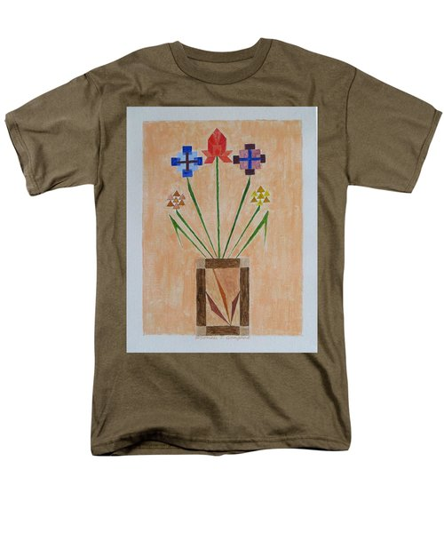 Men's T-Shirt  (Regular Fit) featuring the painting Bouquet by Sonali Gangane