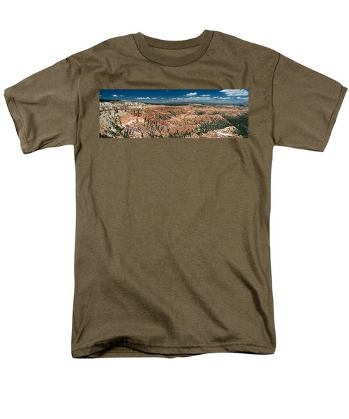 Bryce Canyon Panaramic Men's T-Shirt  (Regular Fit) by Larry Carr