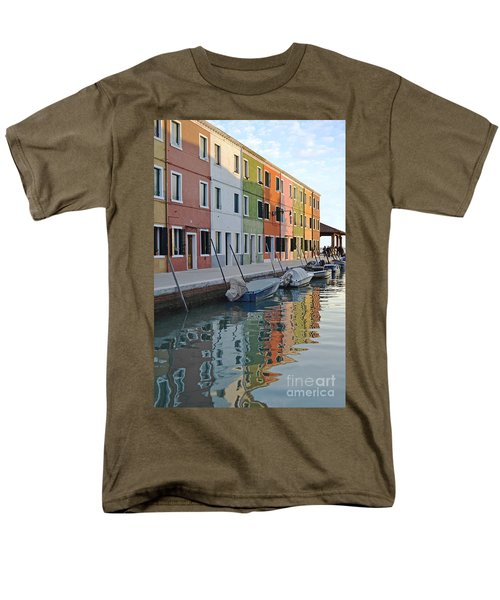 Men's T-Shirt  (Regular Fit) featuring the photograph Burano Canal by Rebecca Margraf
