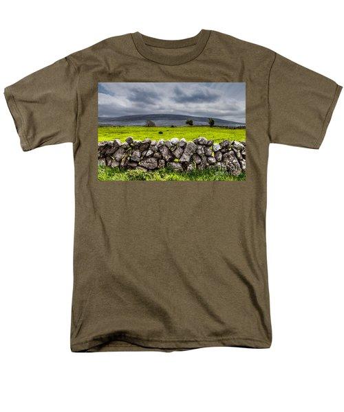 Men's T-Shirt  (Regular Fit) featuring the photograph Burren Stones by Juergen Klust