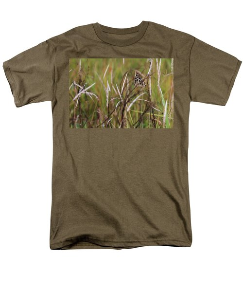 Men's T-Shirt  (Regular Fit) featuring the photograph Butterfly In Flight by Fotosas Photography
