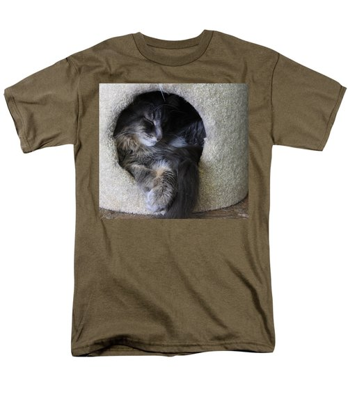 Cat In A Hole Men's T-Shirt  (Regular Fit) by Mary-Lee Sanders