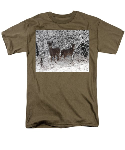 Men's T-Shirt  (Regular Fit) featuring the photograph Caught In The Snow Storm by Elizabeth Winter