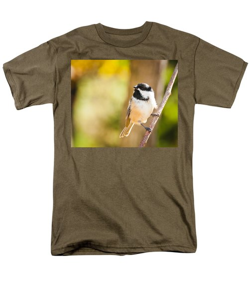 Men's T-Shirt  (Regular Fit) featuring the photograph Chickadee by Cheryl Baxter