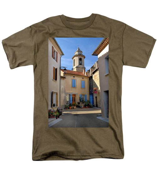 Men's T-Shirt  (Regular Fit) featuring the photograph Church Steeple In Provence by Dave Mills