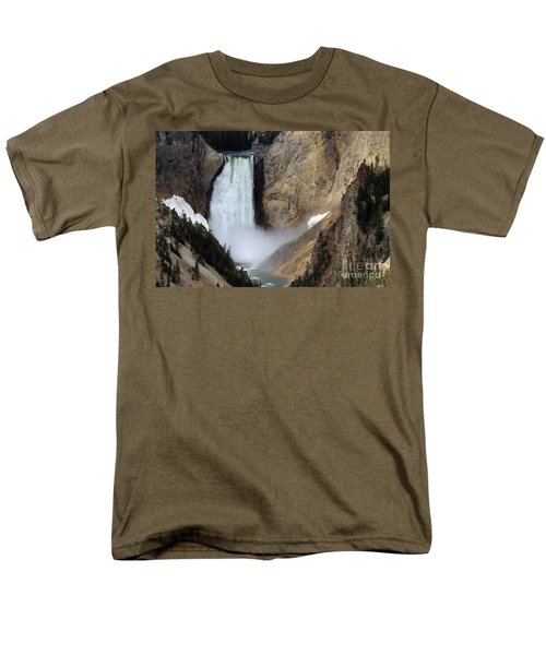 Men's T-Shirt  (Regular Fit) featuring the photograph Close Up Of Lower Falls by Living Color Photography Lorraine Lynch