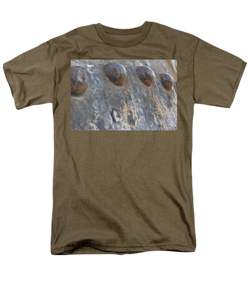 Men's T-Shirt  (Regular Fit) featuring the photograph Color Of Steel 7 by Fran Riley