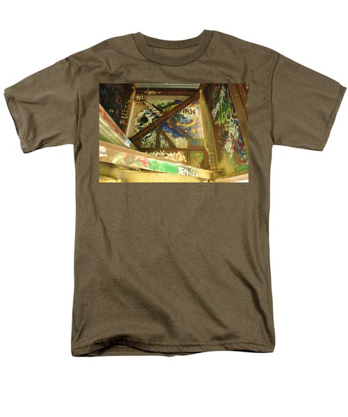 Men's T-Shirt  (Regular Fit) featuring the photograph Color Of Steel 8 by Fran Riley