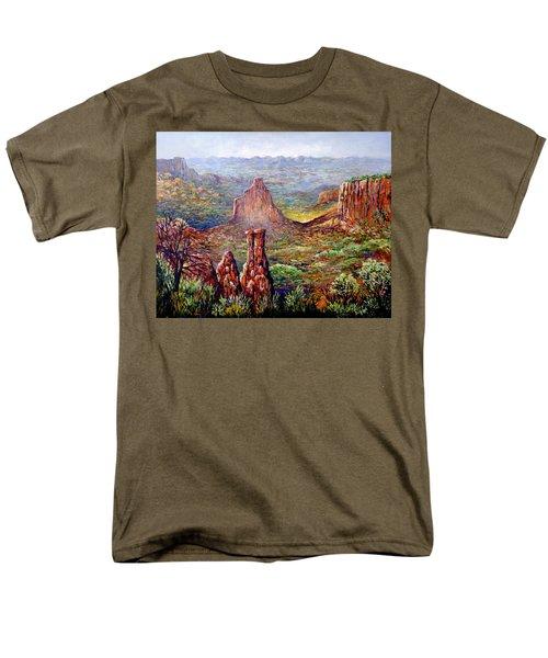 Colorado National Monument Men's T-Shirt  (Regular Fit) by Lou Ann Bagnall