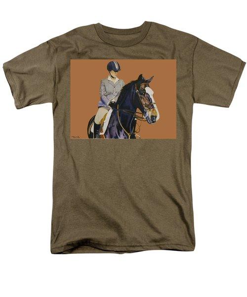 Concentration - Hunter Jumper Horse And Rider Men's T-Shirt  (Regular Fit) by Patricia Barmatz