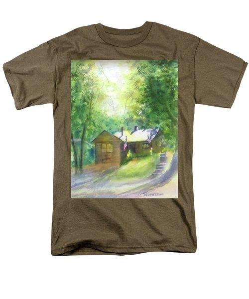 Cool Colorado Cabin Men's T-Shirt  (Regular Fit) by Debbie Lewis
