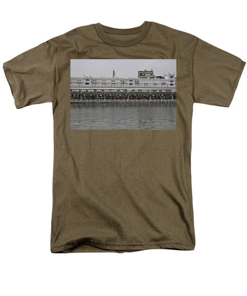 Men's T-Shirt  (Regular Fit) featuring the photograph Crowd Of Devotees Inside The Golden Temple by Ashish Agarwal