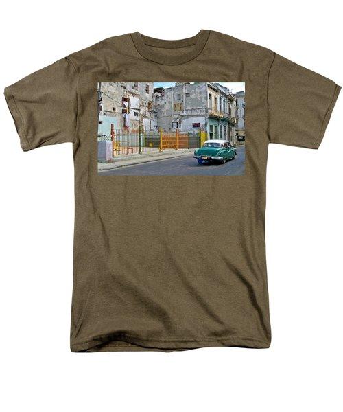Men's T-Shirt  (Regular Fit) featuring the photograph Cuba Vintage American Car  by Lynn Bolt