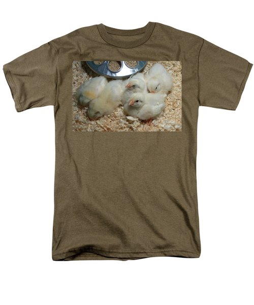 Men's T-Shirt  (Regular Fit) featuring the photograph Cute And Fuzzy Chicks by Chalet Roome-Rigdon