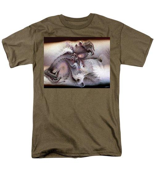 Men's T-Shirt  (Regular Fit) featuring the digital art Derailing Destiny by Casey Kotas