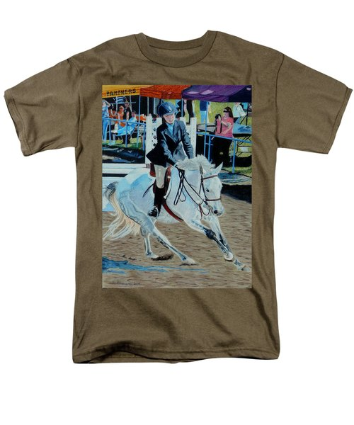 Determination - Horse And Rider - Horseshow Painting Men's T-Shirt  (Regular Fit) by Patricia Barmatz