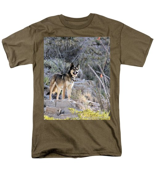 Dog In The Mountains Men's T-Shirt  (Regular Fit) by Marlo Horne