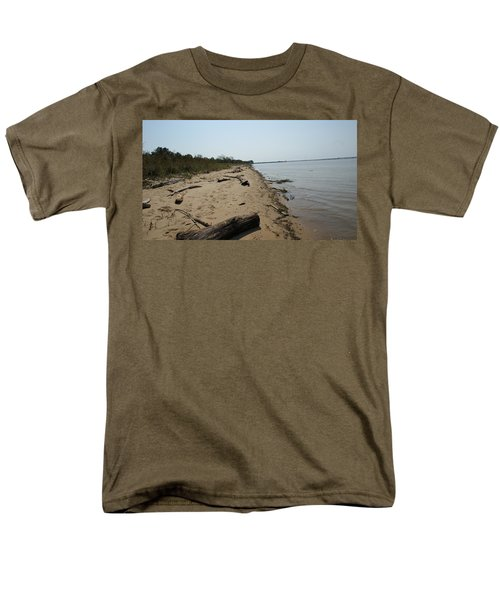 Men's T-Shirt  (Regular Fit) featuring the photograph Driftwood by Charles Kraus
