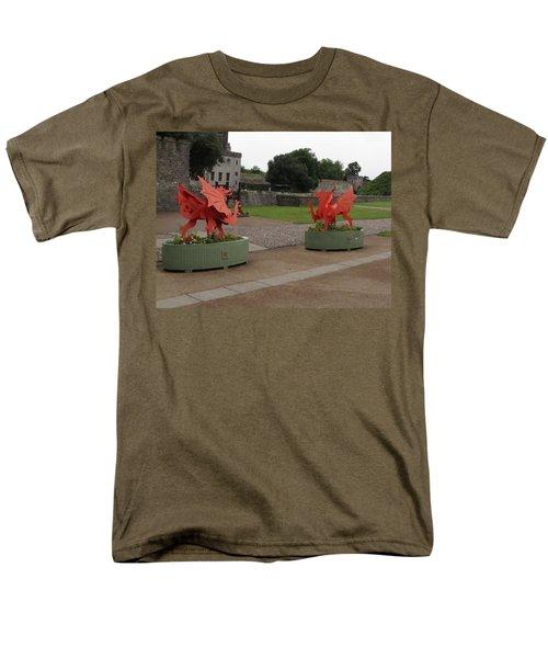 Dueling Dragons Men's T-Shirt  (Regular Fit) by Ian Kowalski