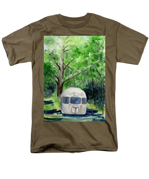 Men's T-Shirt  (Regular Fit) featuring the painting Early Summer At The Geddes Farm 1 --ann Arbor  Michigan by Yoshiko Mishina