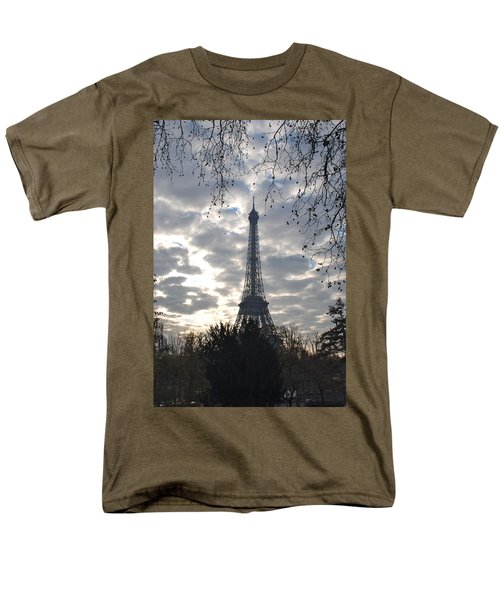 Men's T-Shirt  (Regular Fit) featuring the photograph Eiffel In The Morning by Eric Tressler