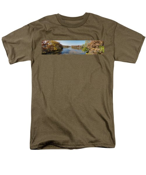 Men's T-Shirt  (Regular Fit) featuring the photograph Erie Canal Panorama by William Norton