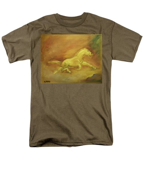 Men's T-Shirt  (Regular Fit) featuring the painting Escaping The Flames by George Pedro