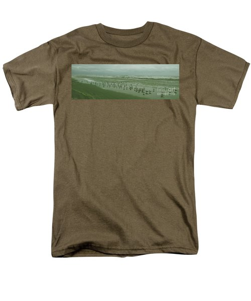Men's T-Shirt  (Regular Fit) featuring the photograph Facing The Wind by Donna Brown