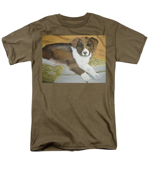 Men's T-Shirt  (Regular Fit) featuring the painting Fat Puppy by Norm Starks