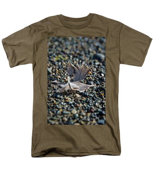 Men's T-Shirt  (Regular Fit) featuring the photograph White Feather by Marilyn Wilson