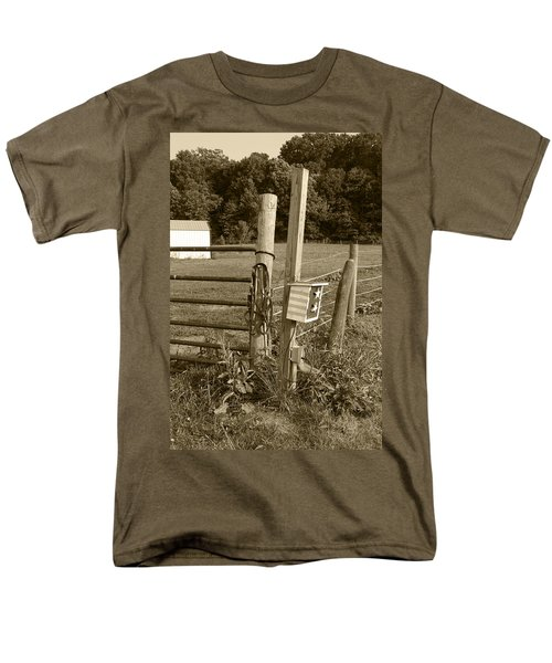 Men's T-Shirt  (Regular Fit) featuring the photograph Fence Post by Jennifer Ancker