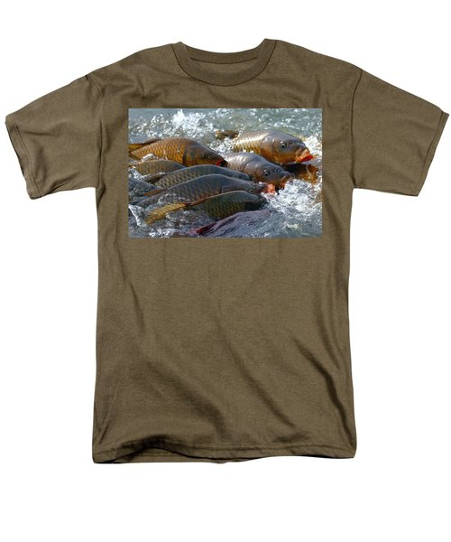 Men's T-Shirt  (Regular Fit) featuring the photograph Fishing And Hunting by Elizabeth Winter