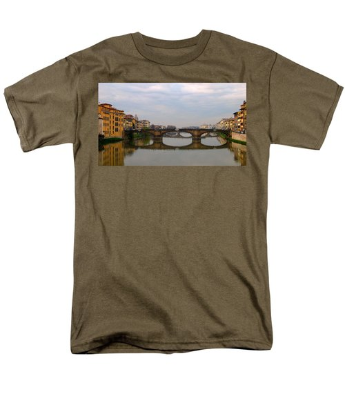 Florence Italy Bridge Men's T-Shirt  (Regular Fit) by Catie Canetti
