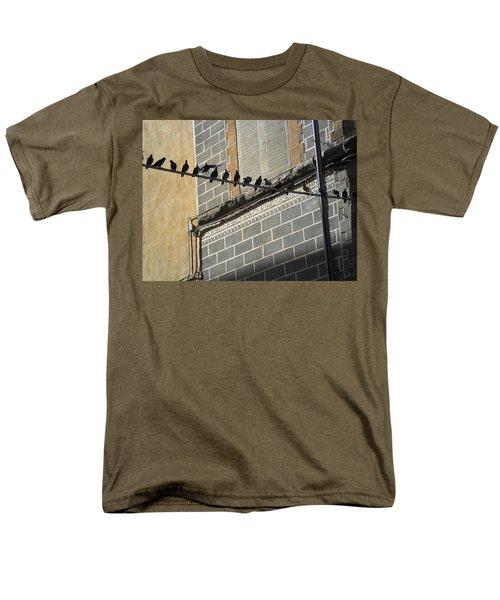 Men's T-Shirt  (Regular Fit) featuring the photograph Florentine Pigeons by Laurel Best