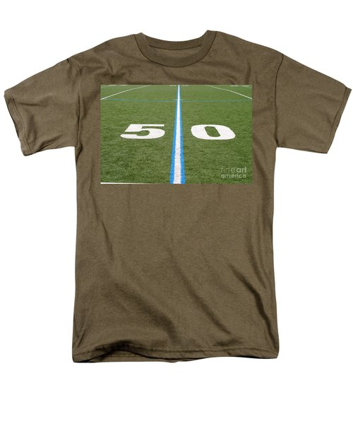 Football Field Fifty Men's T-Shirt  (Regular Fit) by Henrik Lehnerer