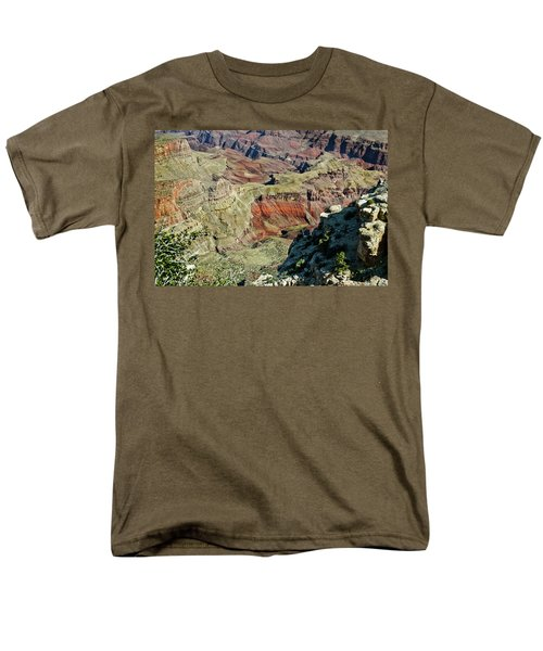 Men's T-Shirt  (Regular Fit) featuring the painting From Yaki Point 6 Grand Canyon by Bob and Nadine Johnston