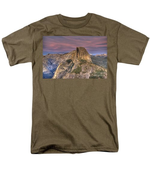 Full Moon Rise Behind Half Dome Men's T-Shirt  (Regular Fit) by Jim And Emily Bush