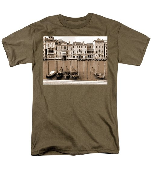 Men's T-Shirt  (Regular Fit) featuring the photograph Gondolas Outside Salute by Donna Corless